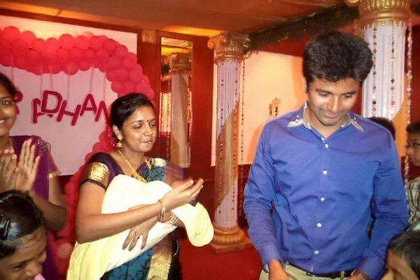 Sivakarthikeyan's baby Aaradhana naming function