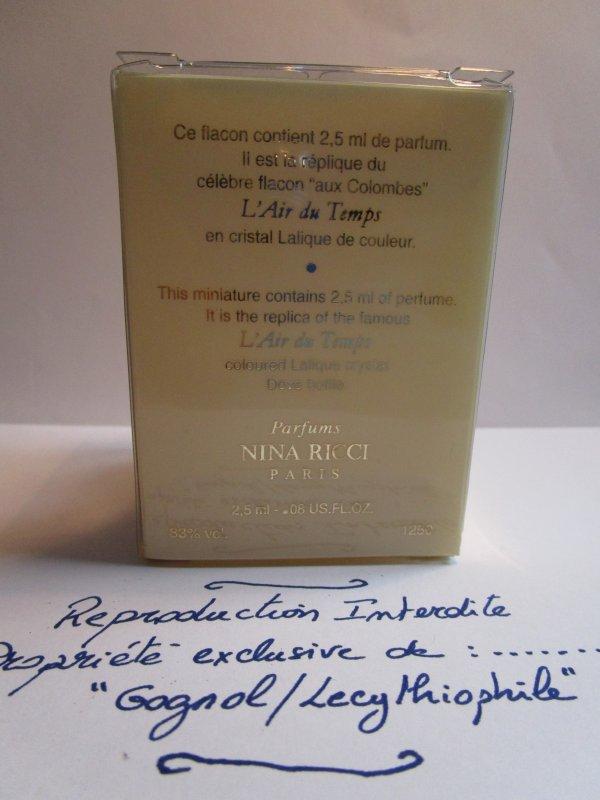 L'AIR DU TEMPS de Nina Ricci  DEMANDE D'INFORMATIONS
