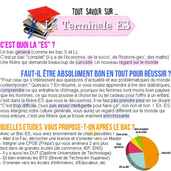TOUT SAVOIR SUR LA FILIERE ES (article n°16)