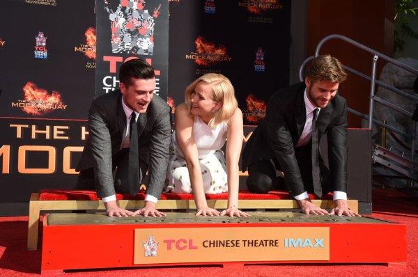 """Le trio se trouvaient le 31 octobre au """"Chinese Theater"""" pour la cérémonie des empreintes"""