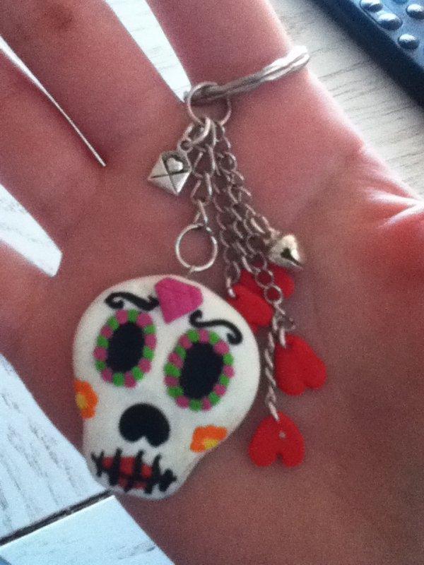 Tête de mort Mexicaine porte-clé