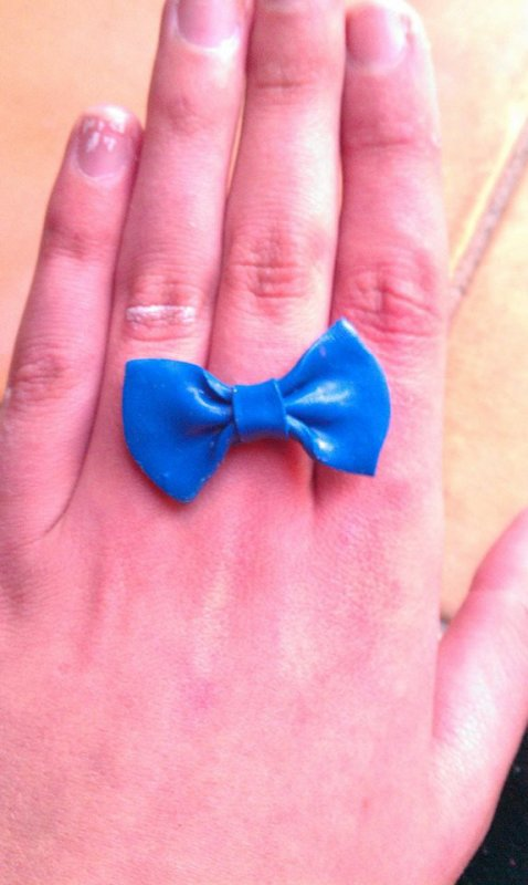 Bague n½ud bleu