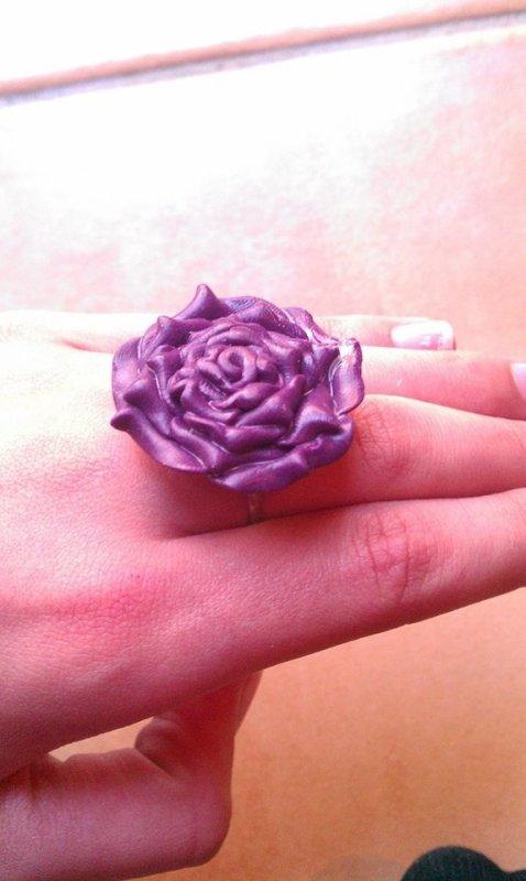 Bague Rose Violette