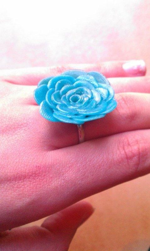 Bague Rose Bleu