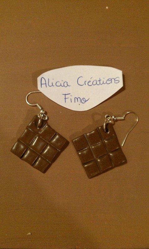 [BOUCLES D'OREILLES] Tablettes de chocolats