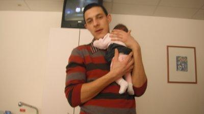 mon homme avec notre fille!<3