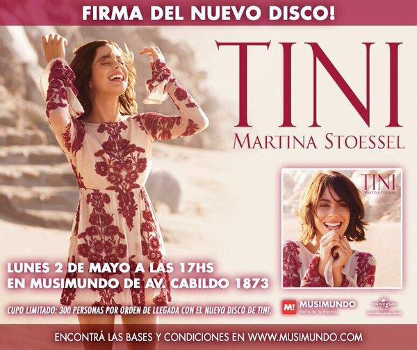 News de Tini le 25/04/2016