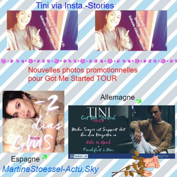 News de Tini le 16/03/2017