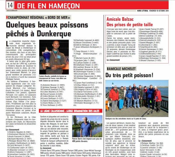 5e manche régionale 2014 - Dunkerque (05-10-2014)