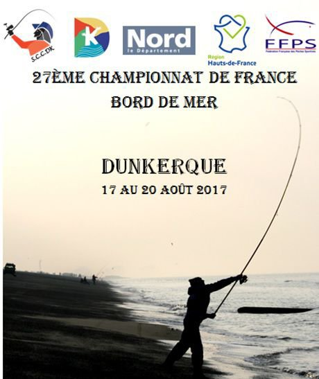 Championnat de France Jeunes 2017 de pêche bord de mer à Dunkerque