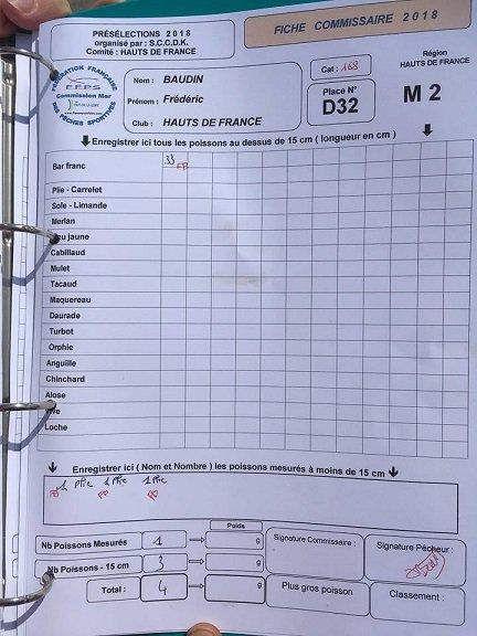 Mon compte rendu de qualification en équipe de France 2018 / 2019 - Dunkerque 2018