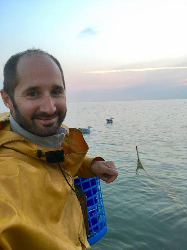 Pêche à la crevette grise à Dunkerque, digue du Braek (25/07/18)