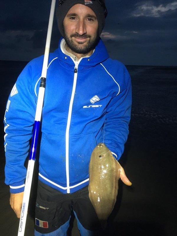 Pêcher la sole de nuit à marée basse plage de St Pol (08/08/18)