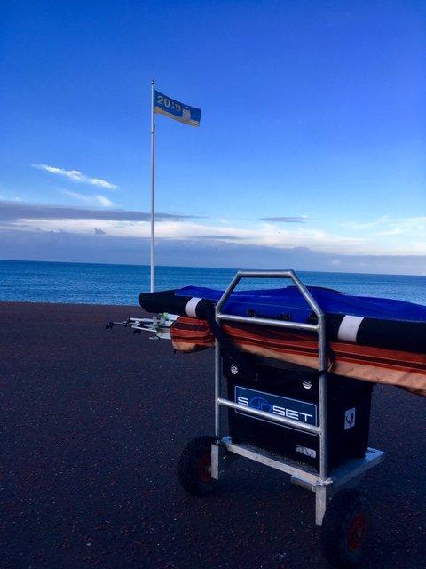 Entrainement championnat du monde surfcasting 2018 Pays de Gales - Llandudno