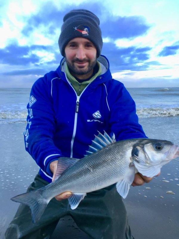 Pêche en surf plage de St Pol (10/11/18)