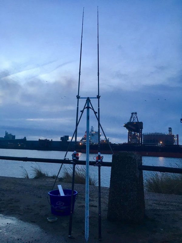 Pêche dans le bassin minéralier de Dunkerque (30/12/18)