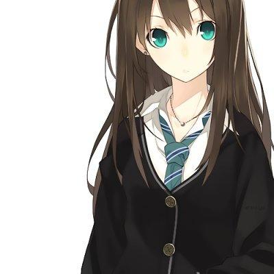 Demande d 39 images une fille avec des longs cheveux lisses mezame - Brun au yeux bleu ...