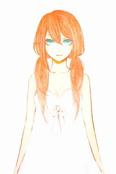 Demande d'images~ : Une fille rousse aux yeux bleu-vert.