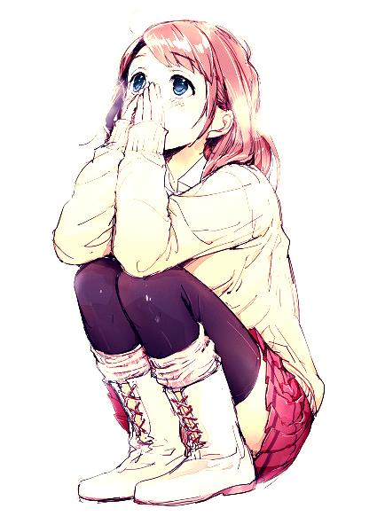 Demande d'images~ : Une fille aux cheveux châtains, et aux yeux bleu.