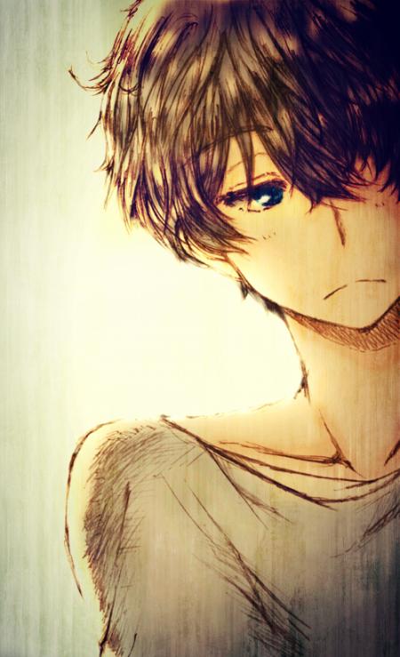 Demande d'images~ : Un garçon bruns aux yeux bleus.