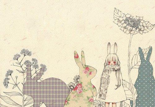 Demande d'images~ : Une petite fille aux cheveux blancs.
