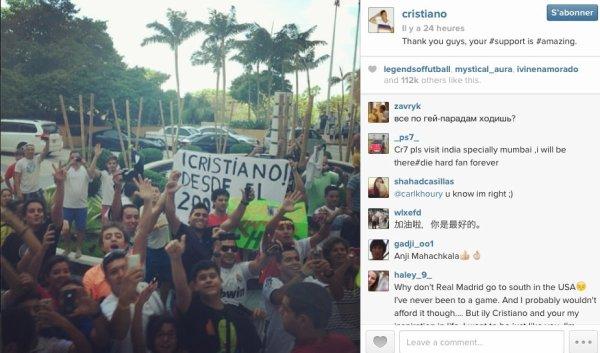 INSTAGRAM DE CRISTIANO RONALDO / IL Y A 24HEURES