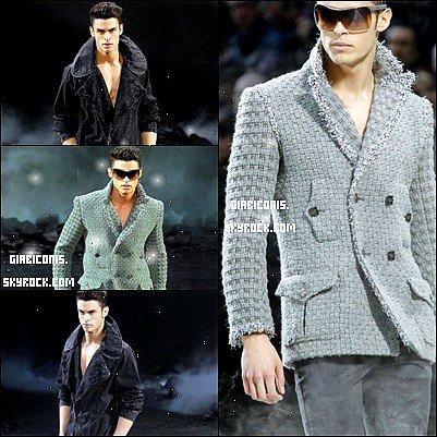 Baptiste au défilé Chanel, aujourd'hui.