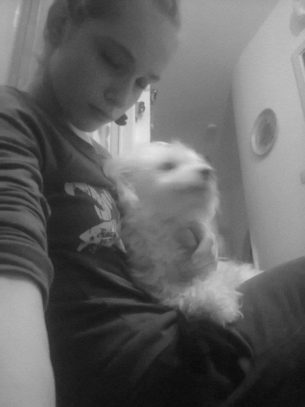 moi et mon chien d'amour