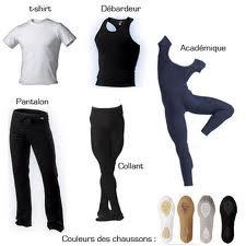 la tenue de danse classique pour les garcons