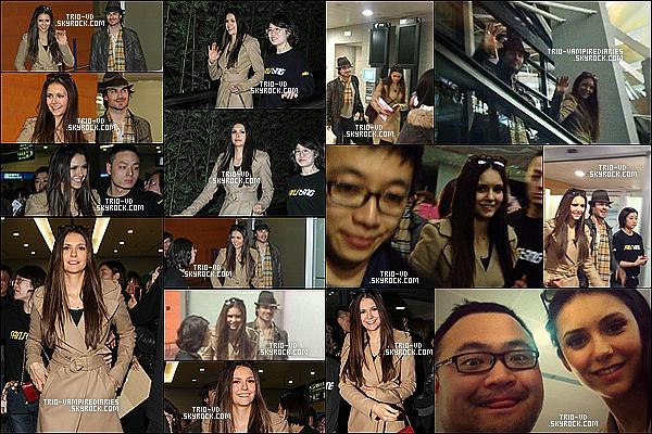 .26/12/2012 - Nina et Ian ont été aperçus à Los Angeles, ils partaient à Shanghai, en Chine. .