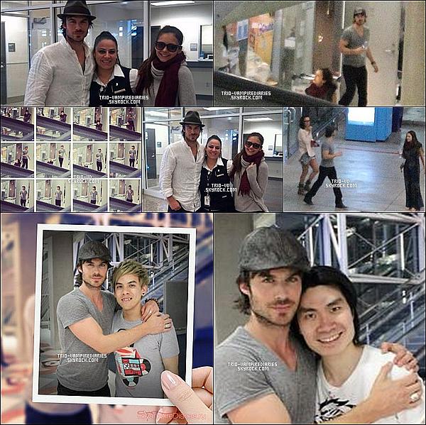 05/01/13 - Nouvelles photos de Nina et Ian à l'aéroport, revenant de Thaïlande.