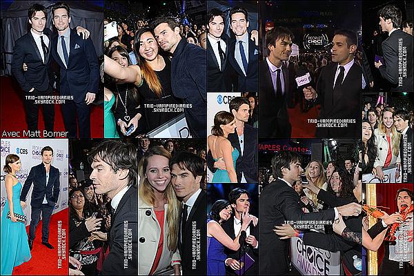 09/01/2012 - Danielle Gillies (as. Elijah) et Ian était aux People's Choice Awards 2013 ! Et bien que The Vampire Diaries ai été nominé 5 fois nos vampires préférés sont rentré bredouille chez eux !