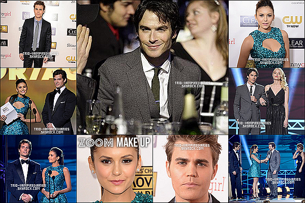 10/01/13 - Nina, Ian et Paul se sont rendu aux Critic's Choice Movies Awards.