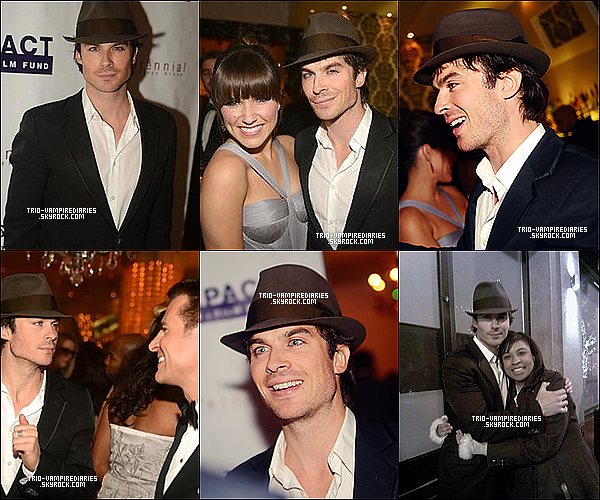 24/01/2013 - Ian Somerhalder au IMPACT Inauguration Dinner Party OYA.