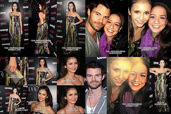 26/01/2013 - Nina à la soirée The Entertainment Weekly Pre-SAG 2013, organisée par Essie et Audi.