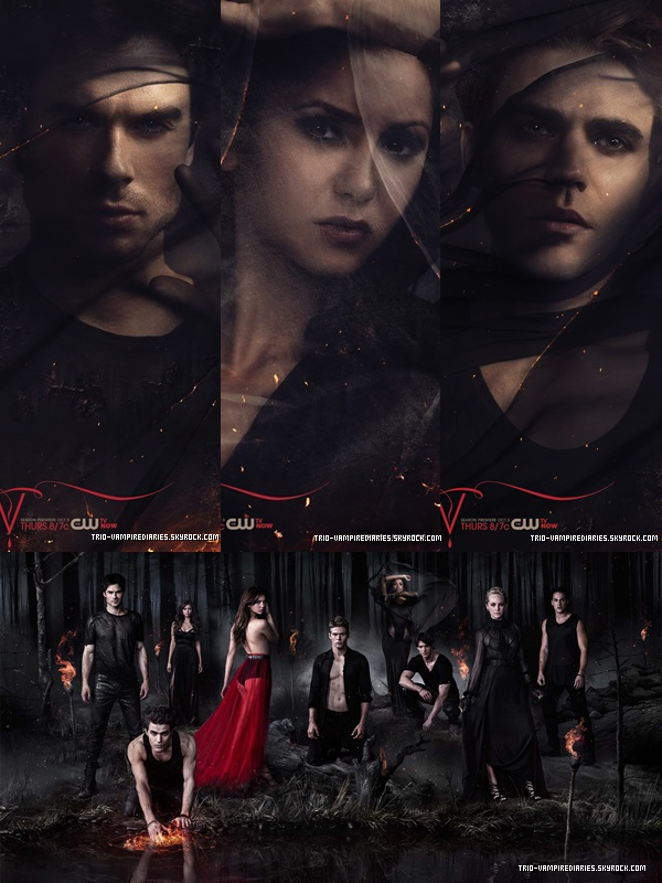 ". ~ Photos promo de ""THE VAMPIRE DIARIES""  !  _____ ."