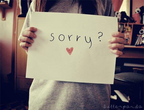 Sorry ... ♥