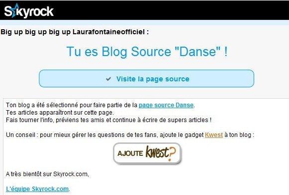 Le Blog est Blog Souce ! Merci Skyrock !