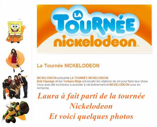 Laura : Tournée Nickelodeon