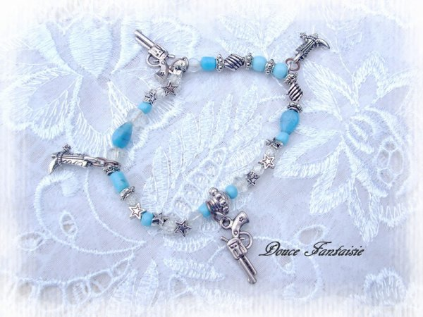 BRACELET COUNTRY ARGENTE TURQUOISE