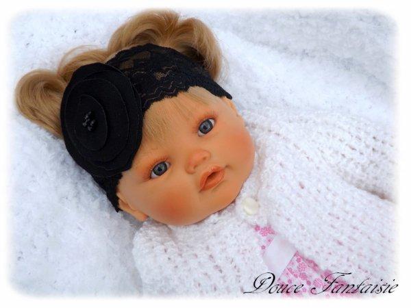 Bandeau dentelle bébé noir