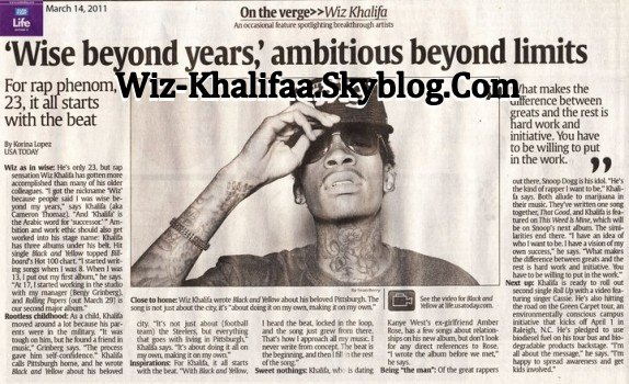 "Wiz Khalifa Dans ""USA Today"""