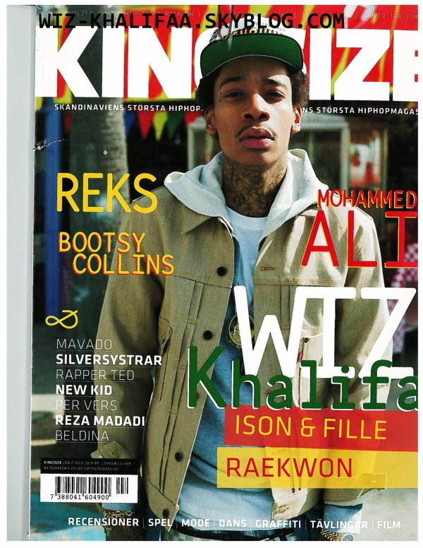 "WIZ KHALIFA | COVERTURE de ""KINGSIZE"""