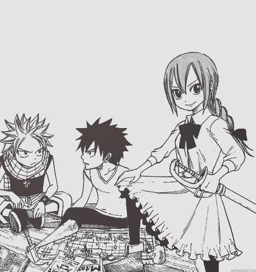 Natsu,Grey et Erza !