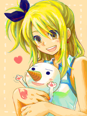 Lucy with Plue!  ♥