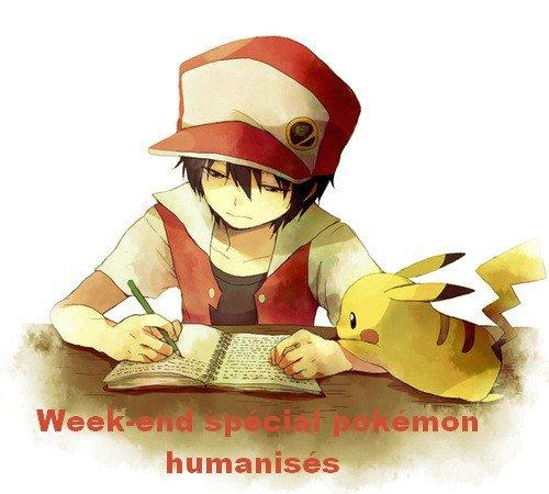 Week-end spécial pokémon humanisés ! Partie 2 !