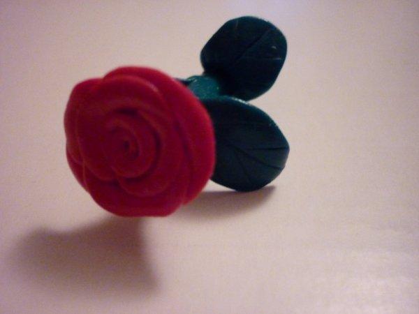 Rose en fimo