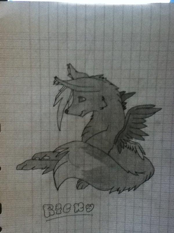 Petit chien avec ailes