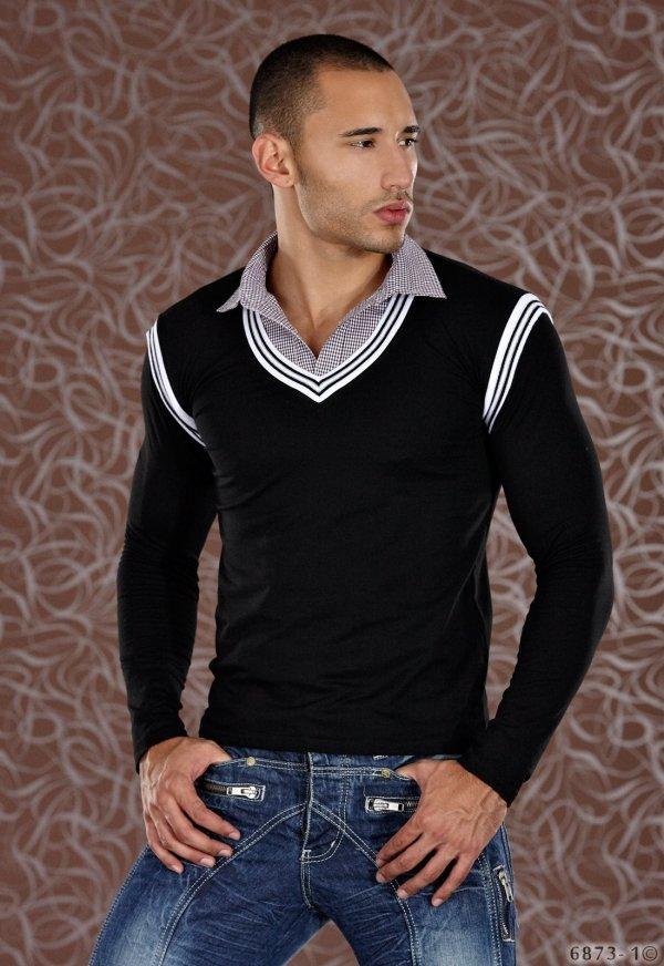 T-shirt manche longue noire