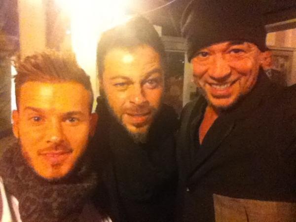 Christophe avec Pascal Obispo et M Pokora...